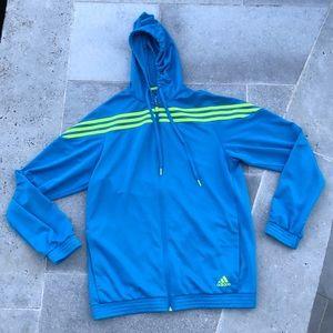 Vintage Adidas Bright Blue Zip Hoodie